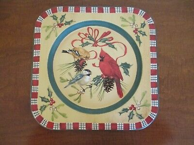 LENOX, Winter Greetings Everyday Earthenware, Square Charger, Excellent Plus NWT