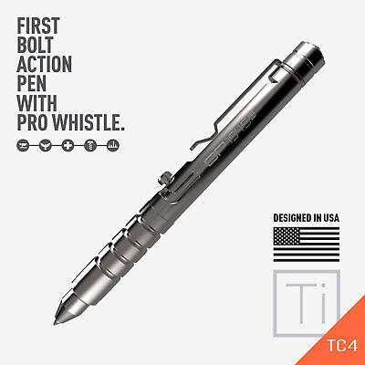 GP 1945 Bolt Action Plus Pen - Machined Titanium High Polished version by GPCA