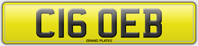 C16 Oeb Number Plate Chloe B No Fees Assigned 4U Clo Reg Chloey Registration
