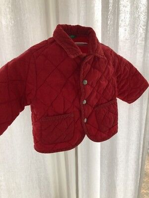 United Colors Of Benetton, Toddler Red Quilted Barn Jacket.