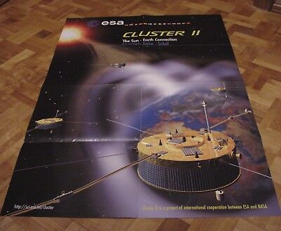 Poster Affiche ESA & NASA - CLUSTER II Sun Earth Connection - 88x60cm
