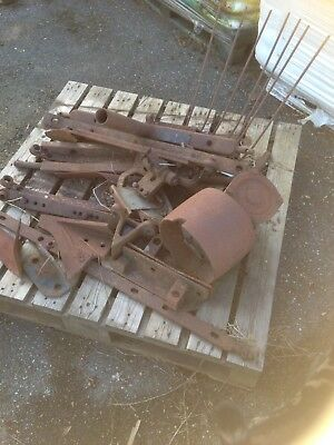 Massey Ferguson / MF Tractor misc.parts. Including pulley, stay bars, rare parts