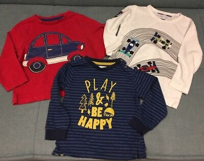 Next Mothercare TU Baby Boy Top Bundle. 12-18 Months. Striped Cars