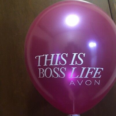 """Avon Balloons """"This is Boss Life"""", """"I'm the best boss I've ever had"""", Lot of 3"""