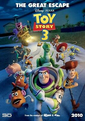 TOY STORY 3 MOVIE POSTER 2 Sided ORIGINAL 27x40 TOM HANKS