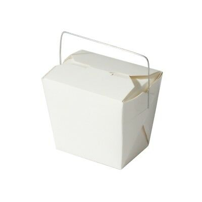 32x, 26oz Chinese Take Out / To Go Boxes, Microwavable, Party Gift Boxes, White