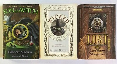 Gregory Maguire Lot of 3, Wicked, Son of a Witch, Lost (PB)