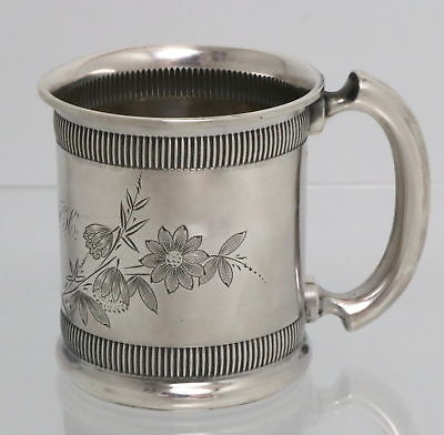 Antique Woods & Hughes Sterling Silver Child's Christening Cup c1870s