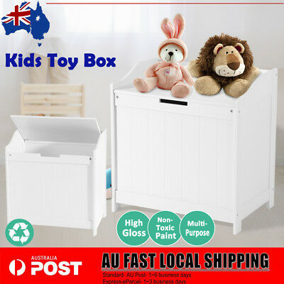 Toy Box Kids Storage Chest Organiser Cabinet Children Wooden Clothes Bookcase