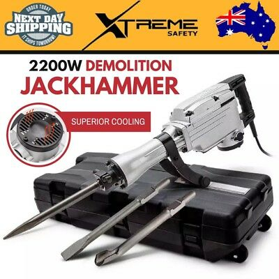 New 2200W Demolition Jackhammer Demolition Demo Chisel Concrete Tool Jack Hammer