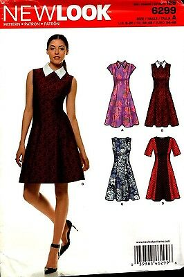 New Look Sewing Pattern 6299 Ladies Dress Size 8-20
