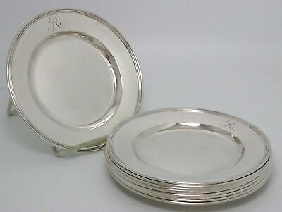 "International Sterling Silver Plates Lord Saybrook Pattern #H413 ""R"" Monogram"