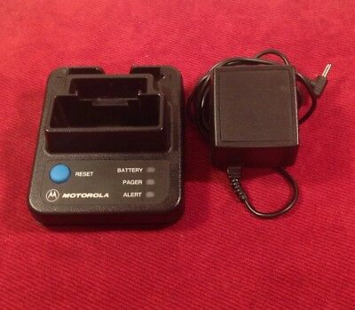 Motorola NLN3823A Minitor II (2) Pager Charger FIRE EMS w/ power adaptor & alert