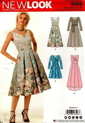 New Look Sewing Pattern 6526 Ladies Dress Size 8-18