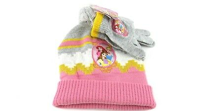 Disney Princess Girl's Hat and Glove Set One Size New