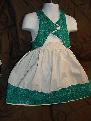 Vintage 50s Girls Childs Dress Sun 4-5 Straps HALTER Cotton Quilted