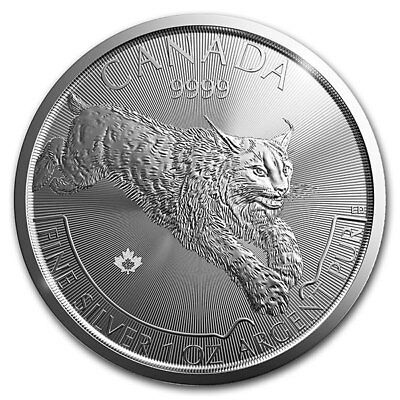 1 oz 2017 Predator Series - Lynx Silver inted Coin 9999