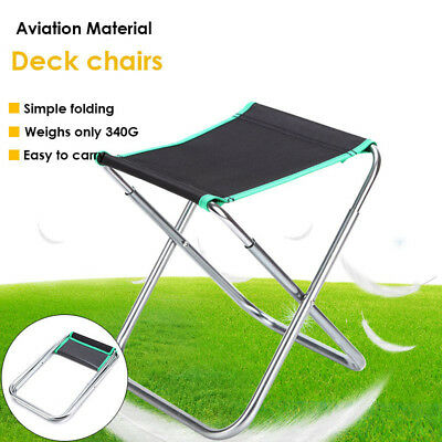 new portable folding camping stool chair seat hiking bbq outdoor
