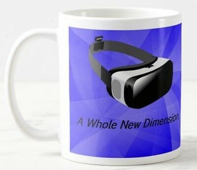 A Whole New Dimension VR Virtual Reality Headset Glasses Goggles Game Gift Mug