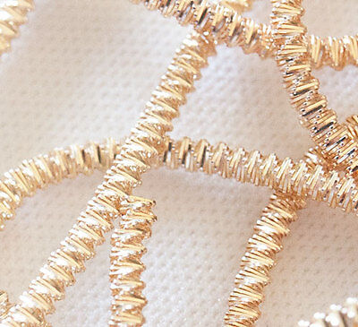 Peach Gold Bright Check Purl Bullion for Metal Thread Embroidery  2mm  2.5 Yards