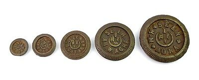 Real Indian Collectible Vintage Lot Of 5 Iron Weight Measurement Scale. G15-217