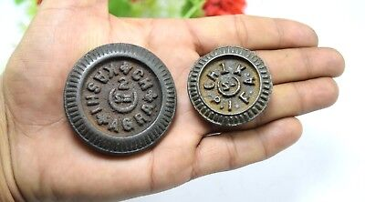 Set Of 2 Indian Collectible Weight Small Object Measurement Weight Scale.G15-208