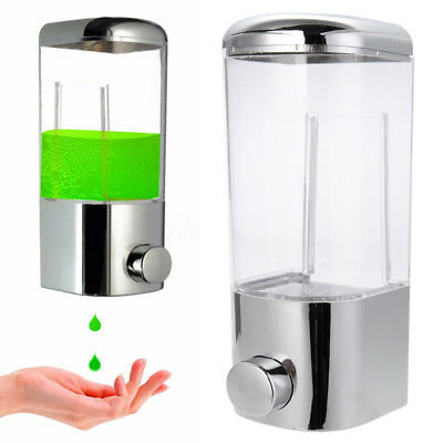 500ml Bathroom Wall Mount Soap Dispenser Shower Shampoo Liquid Sanitizer Bottle