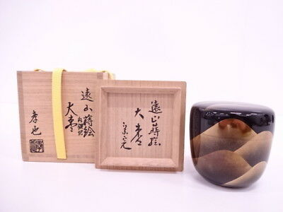 3455355: Japanese Tea Ceremony / Lacquered Tea Caddy Mountains Natsume