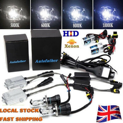 UK Hid Conversion Kit 9006 H1 H3 H4 H7 H11 9005 Xenon Headlight Bulb 55W Ballast