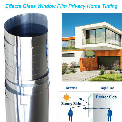 Window Film Privacy Solar Reflective House Mirror Tint Sunscreen Glass Sticker