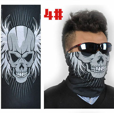 SKULL N WINGS Tube Face cover biker harley chopper streetbike(T14)SKULLBOYZ SA