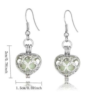 Heart Pendant Hollow Out Luminous Glow In the Dark Earrings Personality Jewelry