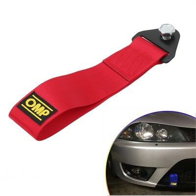 Red High Strength Racing Tow Towing Strap Hook Front Rear Bumper FOR Truck Car