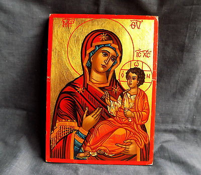 Hand-painted Orthodox Virgin Mary Icon 20 years old