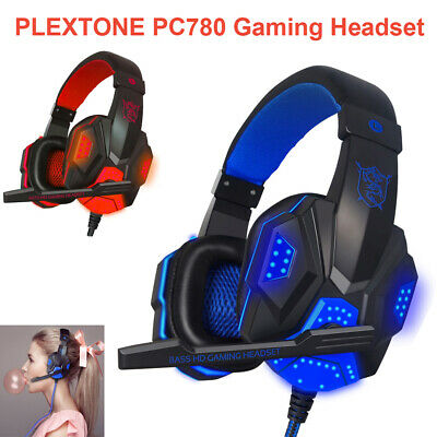 3.5mm Gaming Headset Mic LED Headphones Stereo Surround for PC Laptop  PS4