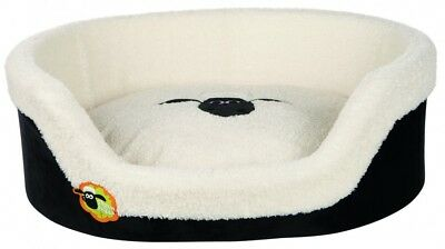 Trixie Shaun the Sheep, Bett Shaun, oval 85 × 65 cm schwarz/creme