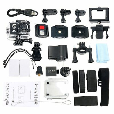 4K Action Camera HD Sports Camera Wifi Waterproof Helmet+Remote Gopro DV US Ship