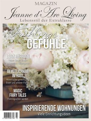 Jeanne d 'arc Living*Magazin*Ausg*April 18*Zeitschrift*Shabby*Vintage*Brocante*