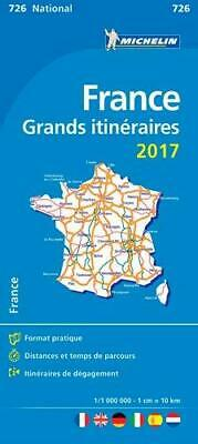 France Route Planning 2017 National Michelin Map 726