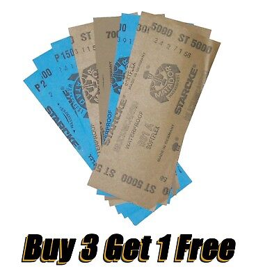 """From Tacoma 98403 Buy 3 get 1 free, 3.5"""" x 9"""" Wet Dry SANDPAPER 400 - 7000 GRIT"""