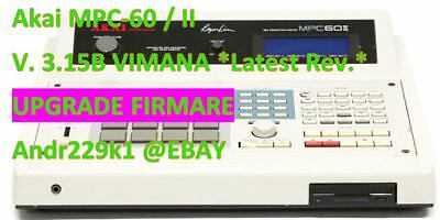 Akai MPC-60 OS VIMANA 3.15B OS Chips *Latest Revision*