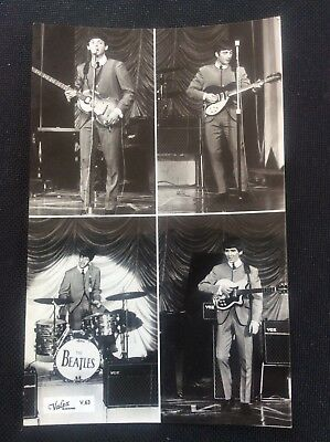 The Beatles Gloss B/W Photograph Photo Valex Postcard V.63 1960s Memorabilia