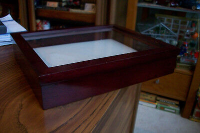 Wood and Glass Counter Display Case.....Cherry