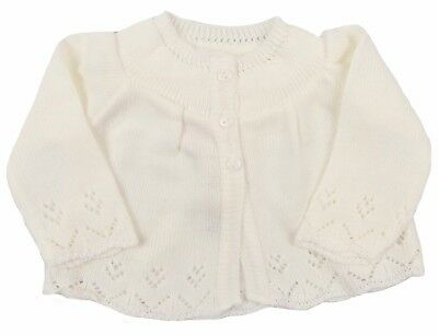 Baby Matinee Jacket Unisex Newborn 0-3 Months Off-White Baby Shower Hospital Bag