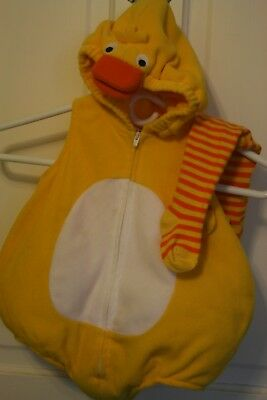 Carter's 12 month Duckling Costume with tights - Excellent condition