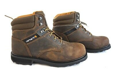 New In Box Carhartt 6 Inch Work Boot Brown Leather CMW6174 - Sizes 8-13