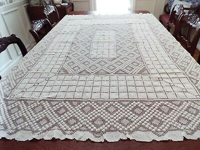 """VINTAGE or ANTIQUE RECTANGLE  TABLECLOTH  67"""" by 52"""""""