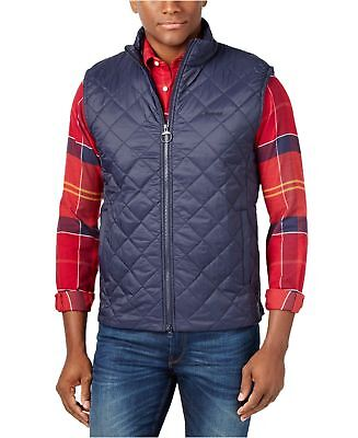 Barbour Mens Keelson Quilted Vest, Navy, Medium