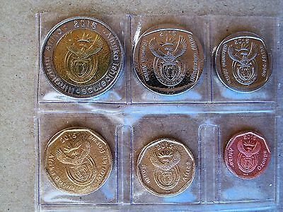 SOUTH AFRICA / SÜDAFRIKA_Original circulation coin set 2015_10 Cents bis 5 Rand