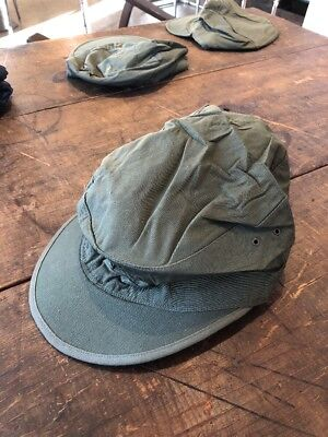 WW2 GI M1943 Field Cap With Visor--Size 8 1945Date--Unissued Rare Size!! Cotton